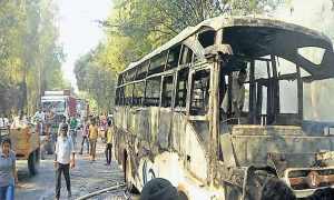 Karnal: A Fire On The Local Bus, The Bus Carrying 52 Passengers Escaped.