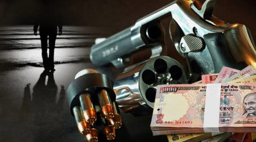 Bihar, Shot, Robbed. Five, Lakhs