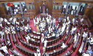 Rajya Sabha, Continuously, Protested