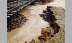Rail Traffic, Heavy Rains, Accident Escape, Train, Haryana