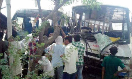 Bus, Collide, Injuring, Passengers, Road Accident, Hospital, Referee