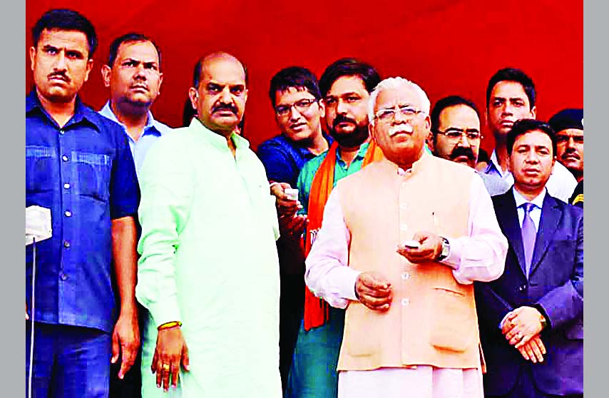 CM, MLKhattar, Inaugurates, Launch, Saplings, Haryana