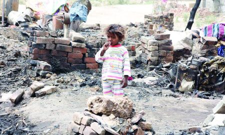 Fire, Slums, Demand, Compensation, Government, Sachkahoon