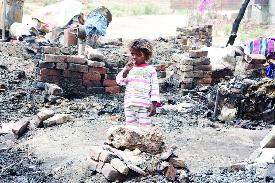 Fire, Slums, Demand, Compensation, Government, Sachkahoon