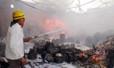 Fire, Washing Powder Factory, Millions, Burned, Loss