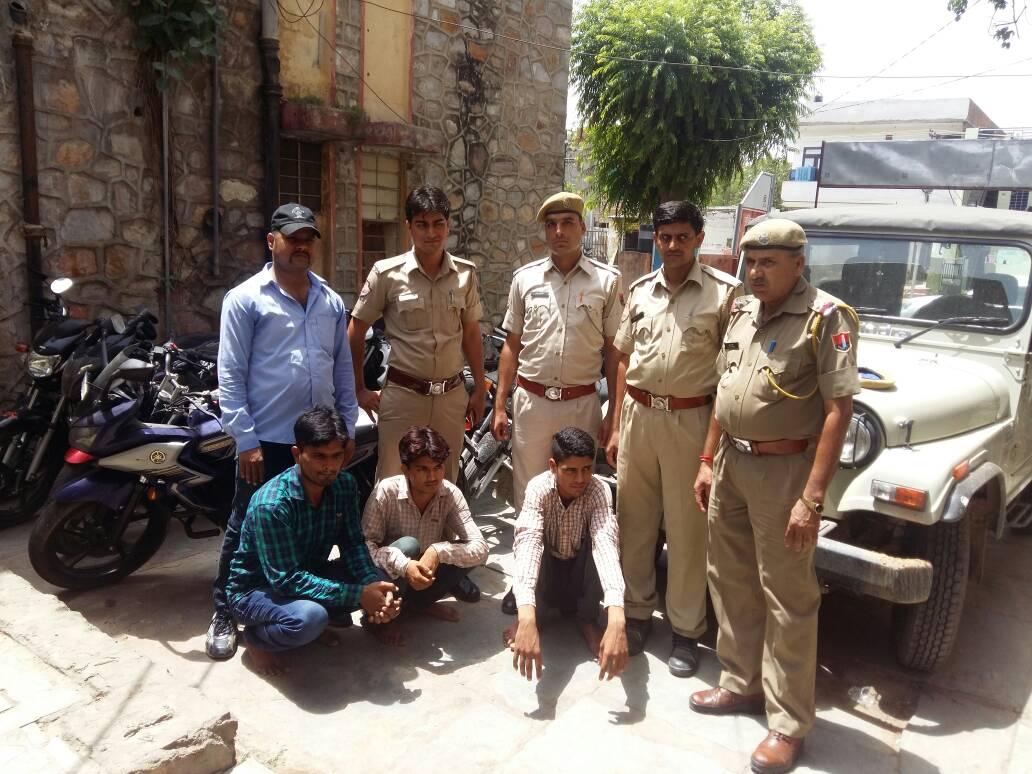 Vehicle Thieves, Gang, Arrested, Police, Bike, Car, Rajasthan