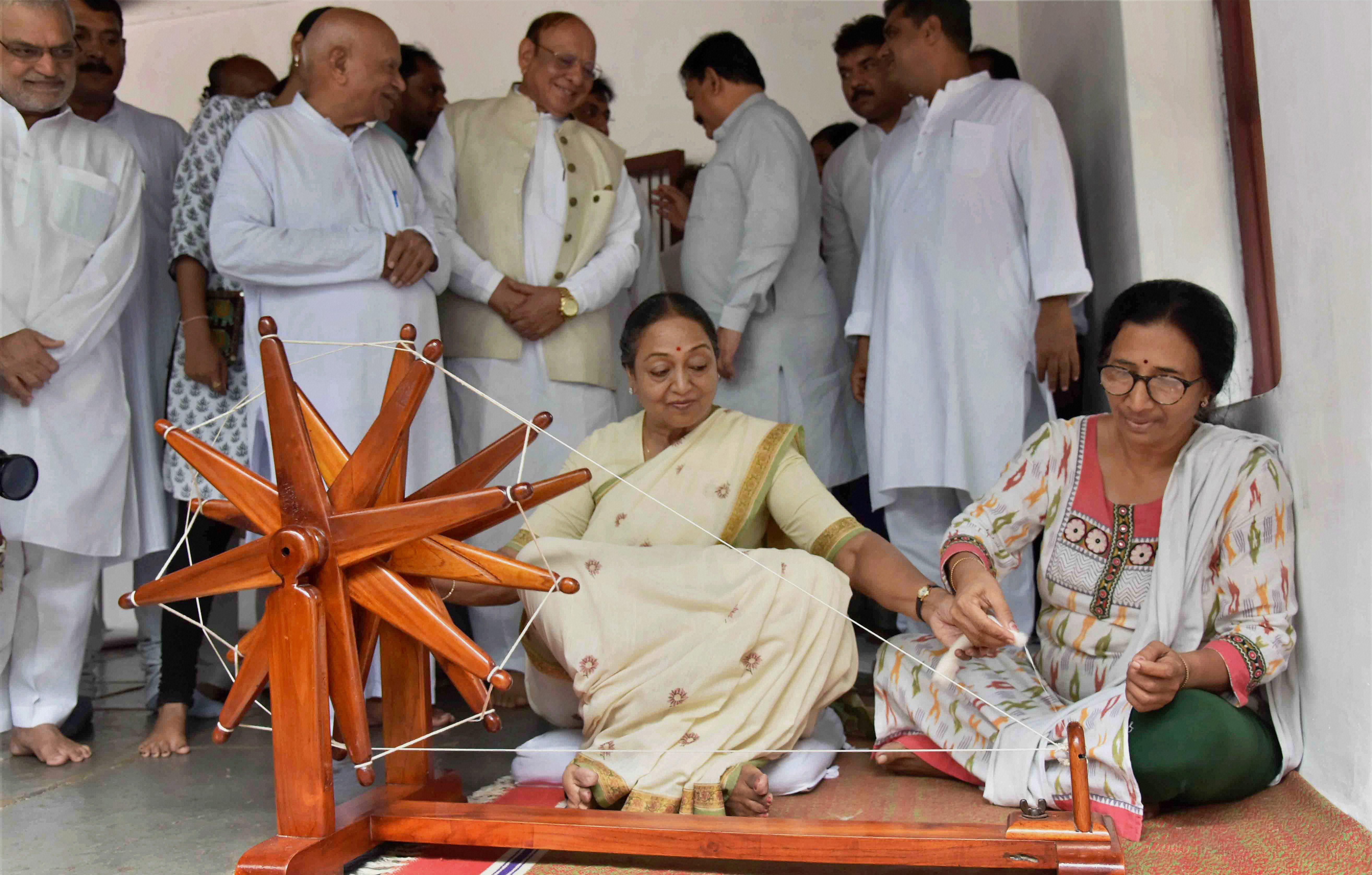 Meira Kumar, Campaign, Sabarmati Ashram, Candidate