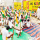 labourers, Protest, Government, Raised, Strike, Workers, Punjab