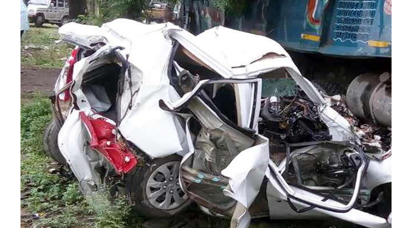 Death, Dumpper, Car, Collision, Accident, Rajasthan