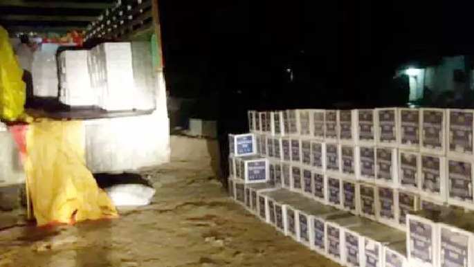 Millions, Liquor, Seized, Truck, Police, Arrested, Rajasthan