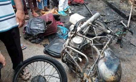 Bike, Burn, Gas Cylinder, Shop, Loss, Rajasthan