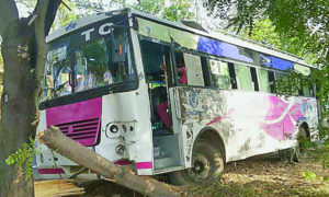 Staring Fail, Bus, Collide, Accident, PRTC, Punjab