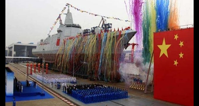 China, Launches, Missile Destroyer, Sea, Weapon