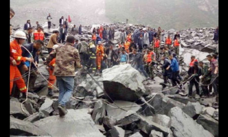 Landslide, China, Rescue Workers, Relief Work, Debris