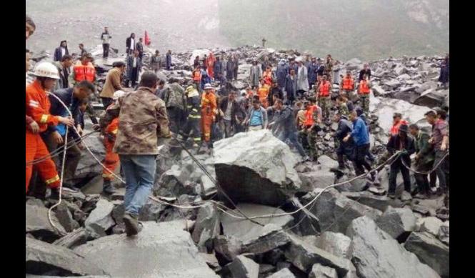 Landslide, China, Rescue Workers, Relief Work, Debris