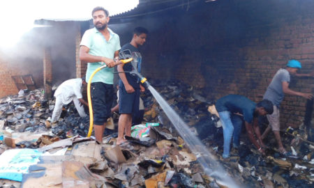 Fire, Junk Warehouse, Loss, Millions, Punjab