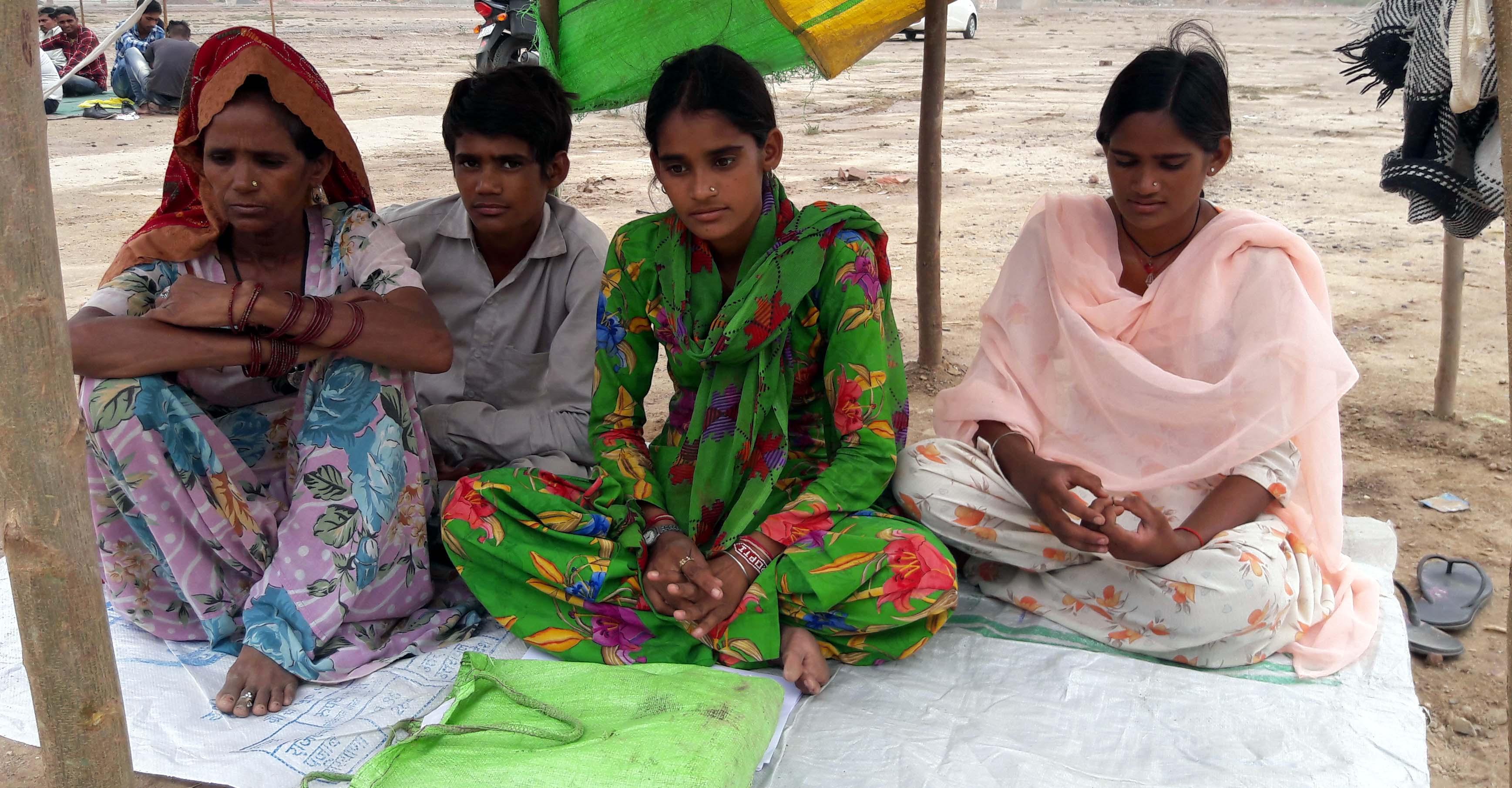 Woman, Strike, Children, Demand, Action, Former MLA, Rajasthan