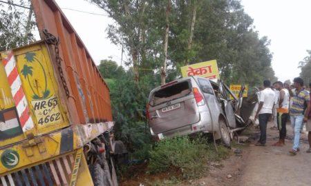 Truck, Collision, Road Accident, Death, Police, Postmortem, Haryana
