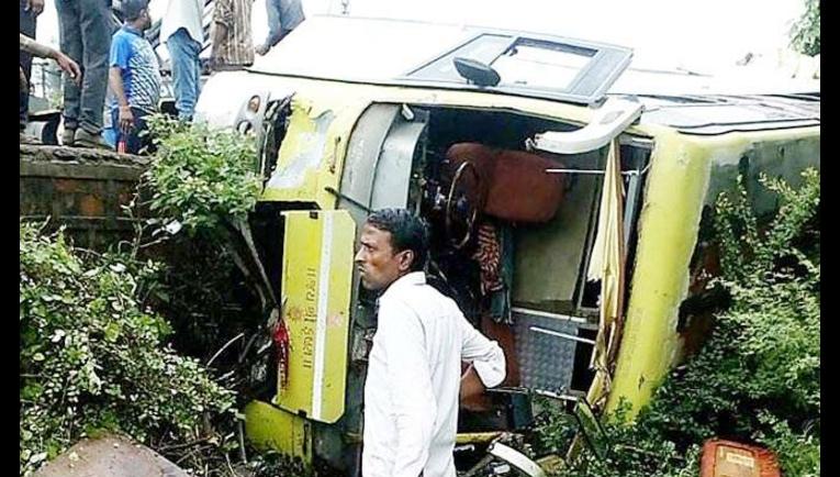 Road Accident, Death, Injured, Bus, Bike, Pilgrims