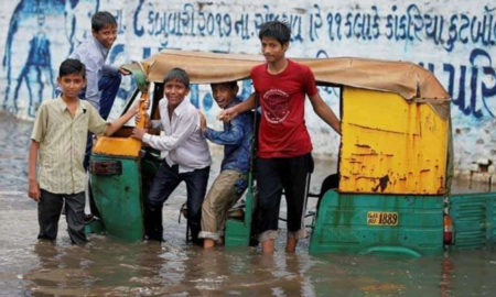 Flood, Rain, Died, Indian Army, NDRF, Airlift, Safe, Gujarat