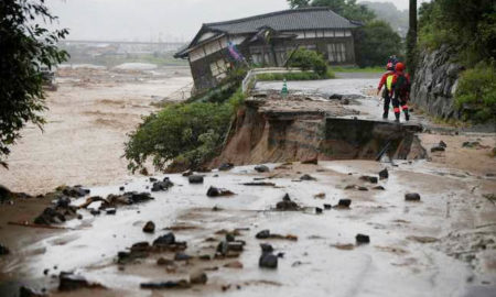 Heavy Rains, killed, Landslide, Warning, Japan