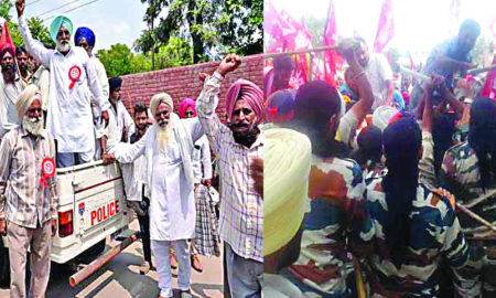 Farmers, GST, Police, Lathi Charge, Protest, Punjab