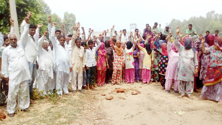 Villagers, Protest, Administration, Raised, Strike, Haryana