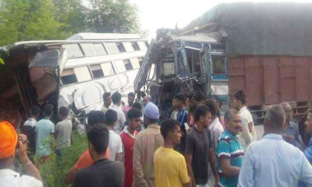 Tourist Bus Accident, Conductor, Death, Injured, Seriouss, Army camp