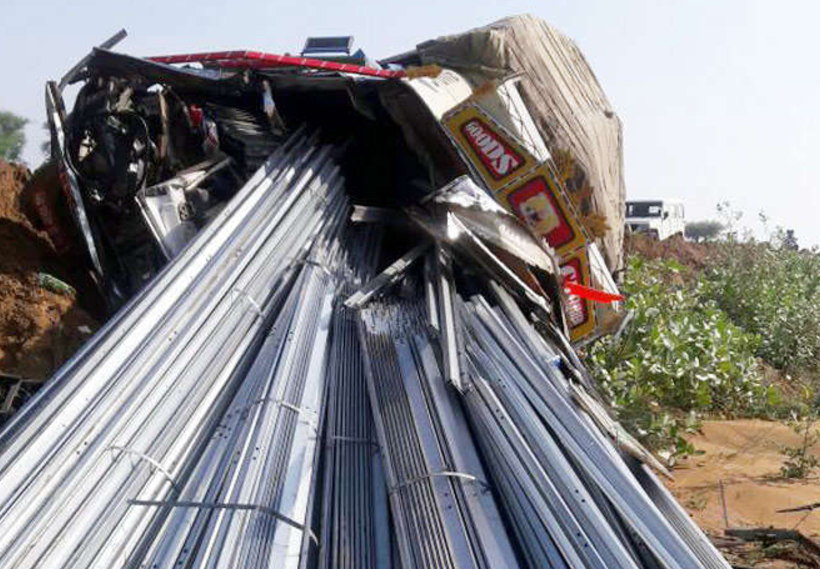 Truck Road Accident, Driver, Helper, Died, Rajasthan