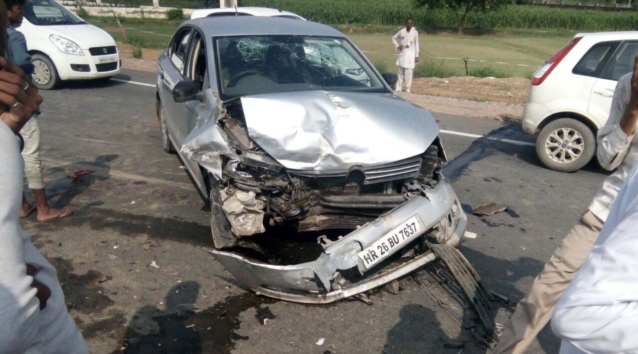 Driver, Car, Collision, Death, Injured, Haryana