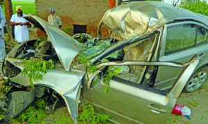 Death, Car, Collided, Tree, Punjab