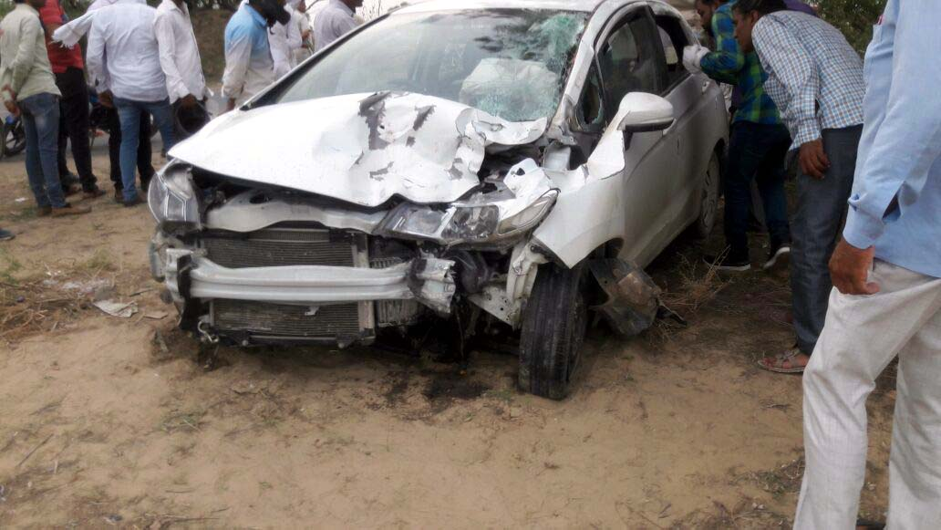 Death, Bank Employee, Car, Collision, Police, Rajasthan