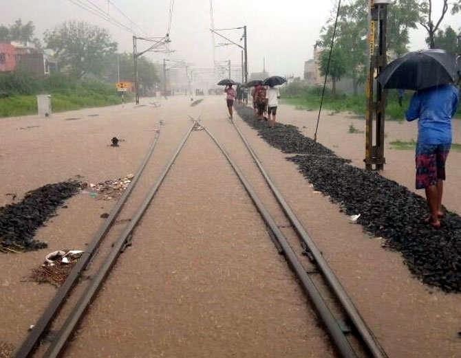 Heavy Rain, Railway Track, Traffic Affected, Weather, Rajasthan