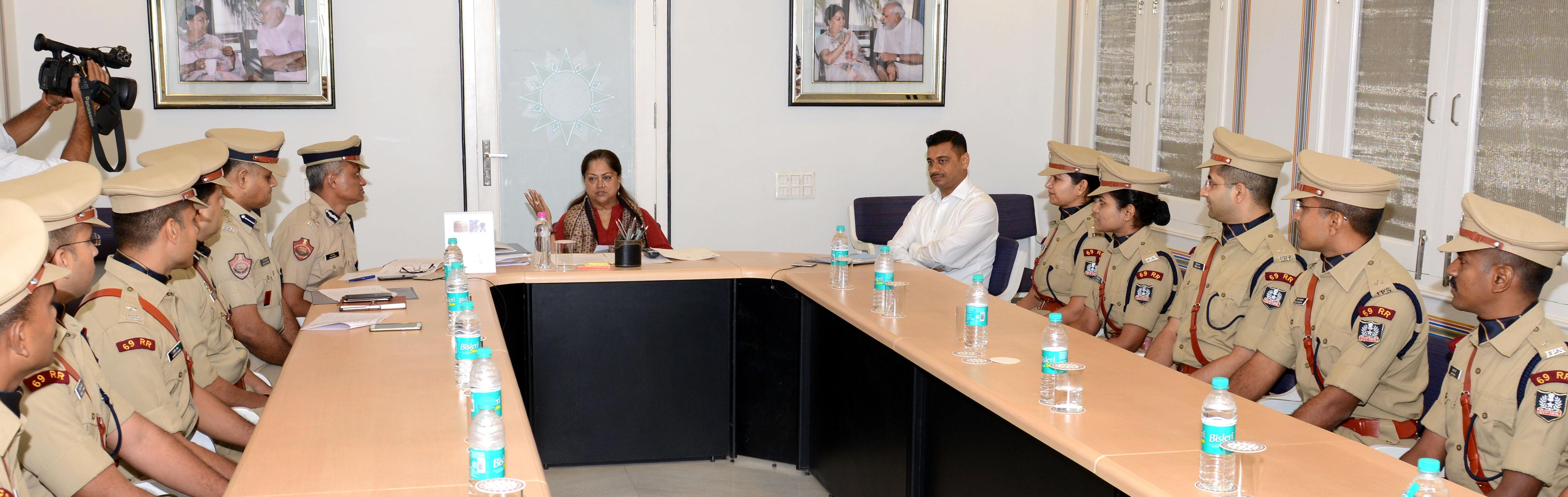 IPS Trainee, Meet, Vasundhara Raje, Police, Obligation, Rajasthan