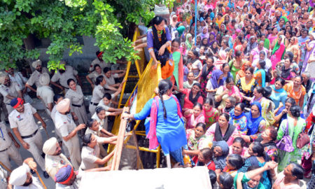 Anganwadi Workers, Police, DC Office, Unemployed, Punjab