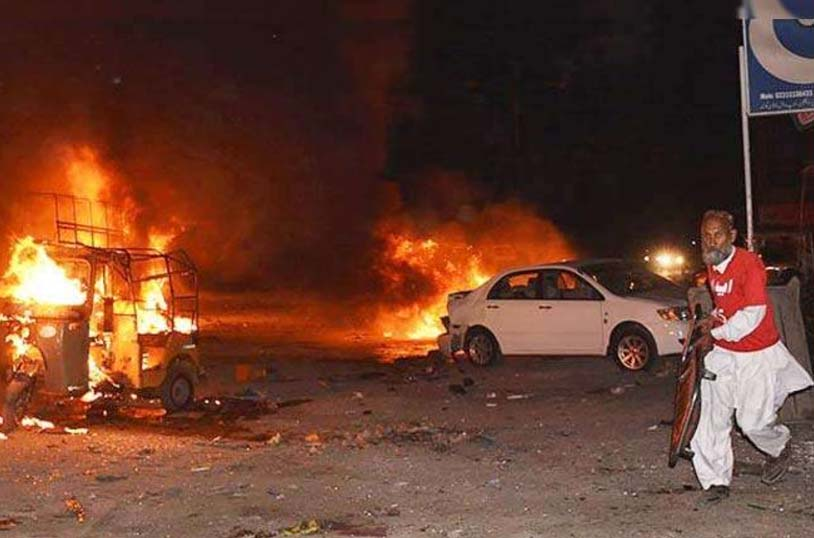 Blast, Security Force, Fire, Injured, Hospital, Pakistan