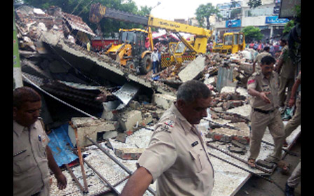 Death, Building Collapse, Heavy Rain, Haryana