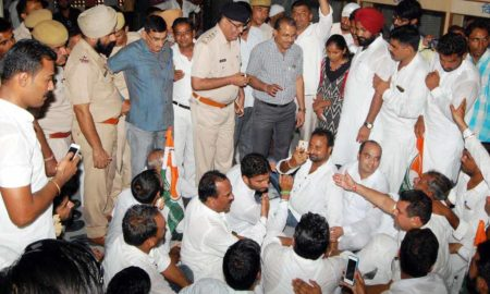 Clash, Police, Congress Workers, Memorandum, Rajasthan