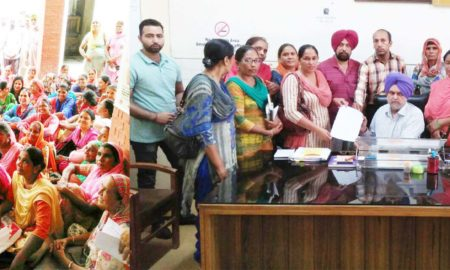 Workers, Protest, Memorandum, Civil Surgeon Office, Punjab