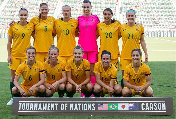 Women Team, Football, Australia, Won, Tournament Of Nations
