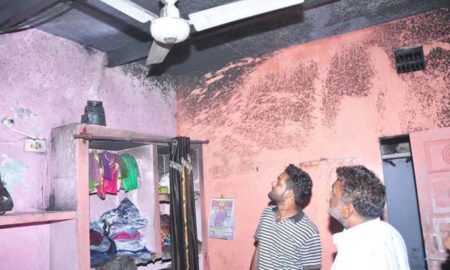 Fire, House,Luggage, Ashes, Haryana