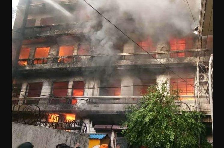 Fire, Haujari Factory, Ludhiana, Punjab