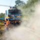 Running, Train, Engine, Catches, Fire, Rajasthan