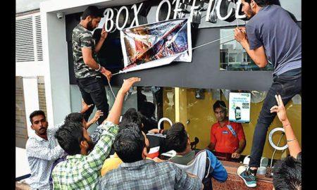 Protest, Slogan, Rajput Hostel,Padmavati Film, Rajasthan