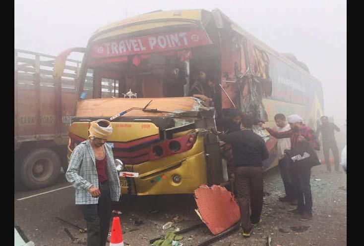 Fog, Road Accident, Died, Injured, Haryana