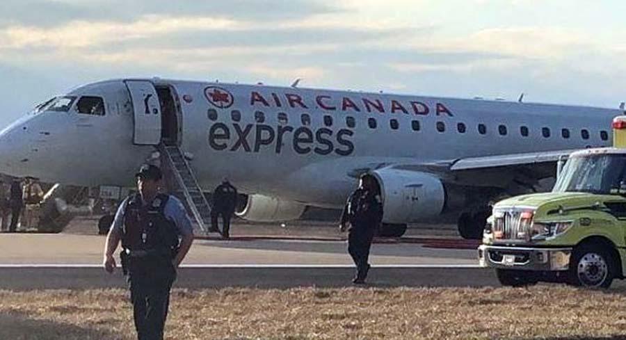 Air Canada Jet, Emergency Landing, Airport, Washington