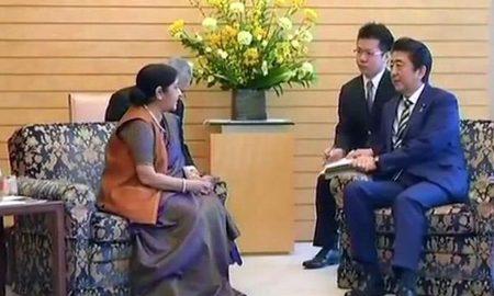 Sushma Swaraj, Shinzo Abe