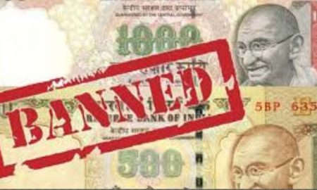 99 lakh seized in notes worth Rs 500.1000, 4 arrested