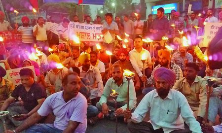 Contract Workers, Torch March, Health Minister, In Punjab