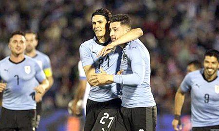 Football, Uruguay, Defeated, Uzbekistan, 3-0 final, Warm Up, Fifa Worldcup, Sports